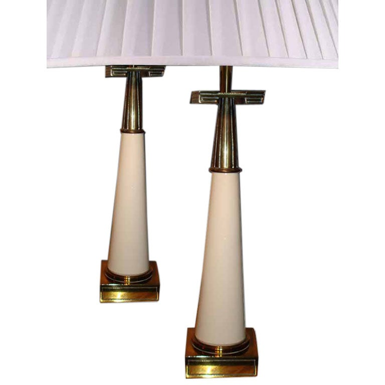 Pair American Stiffel 1960s Lamps At 1stdibs