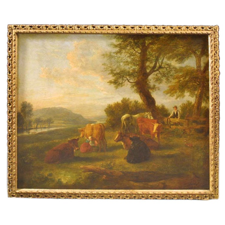 Modern School Furniture ~ English school landscape oil painting late th c at stdibs