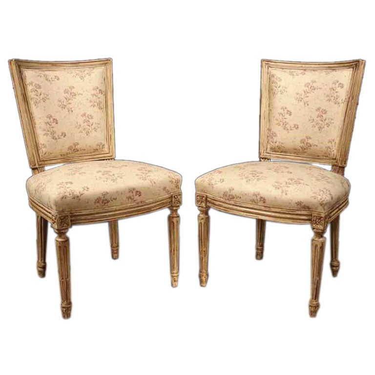 set ten painted dining room chairs at 1stdibs