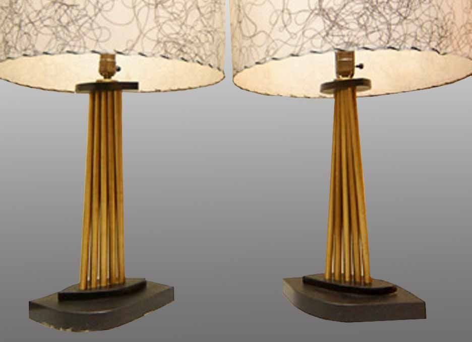 pair of mid century table lamps circa 1950 at 1stdibs. Black Bedroom Furniture Sets. Home Design Ideas