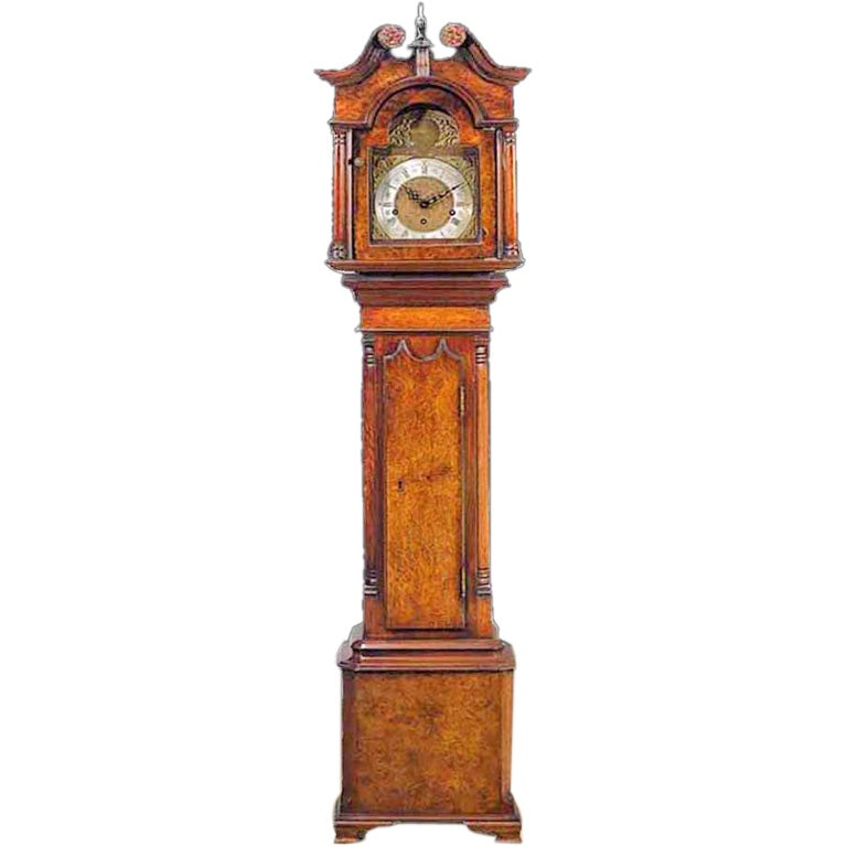 George III Style Walnut Grandmothers Clock. 20th C at 1stdibs