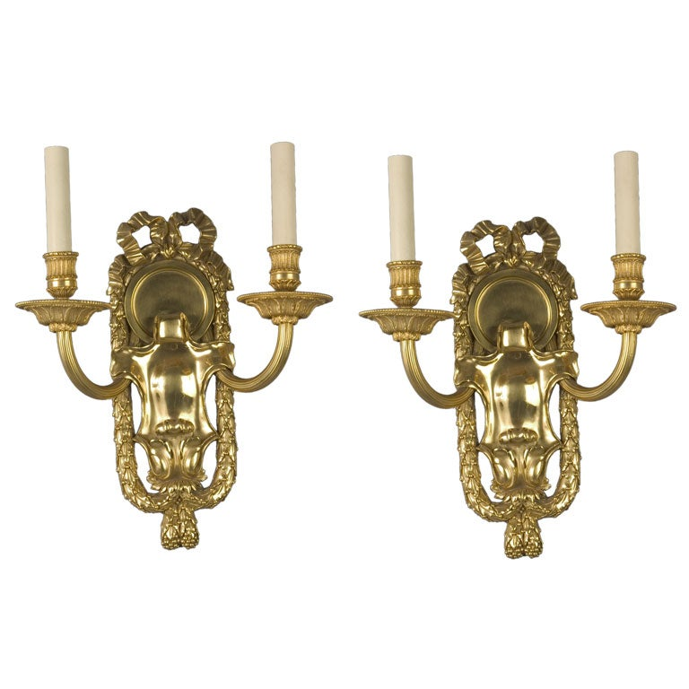 Pair of Two-Arm Sconces by the E. F. Caldwell Co.