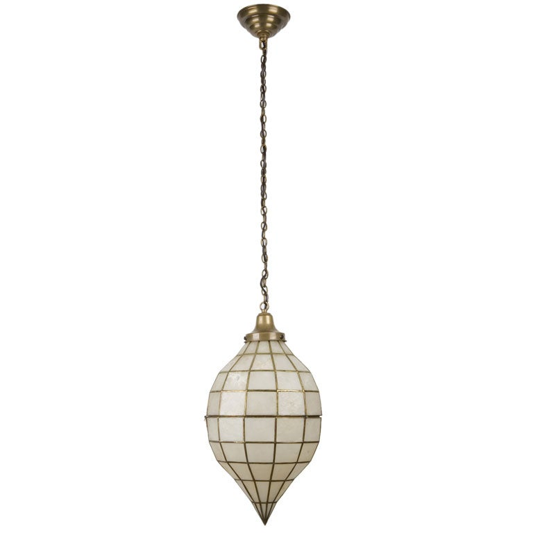 A capiz shell pendant at 1stdibs for Shell ceiling light fixtures