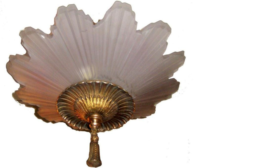 star molded glass light fixture for sale at 1stdibs
