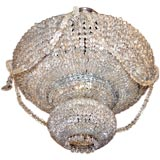 Beaded Crystal Light Fixture