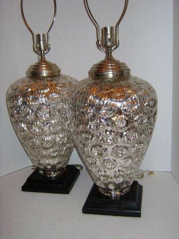 Elderflower mercury glass silver modern classic large table lamp - Large Mercury Glass Table Lamps Myideasbedroom Com