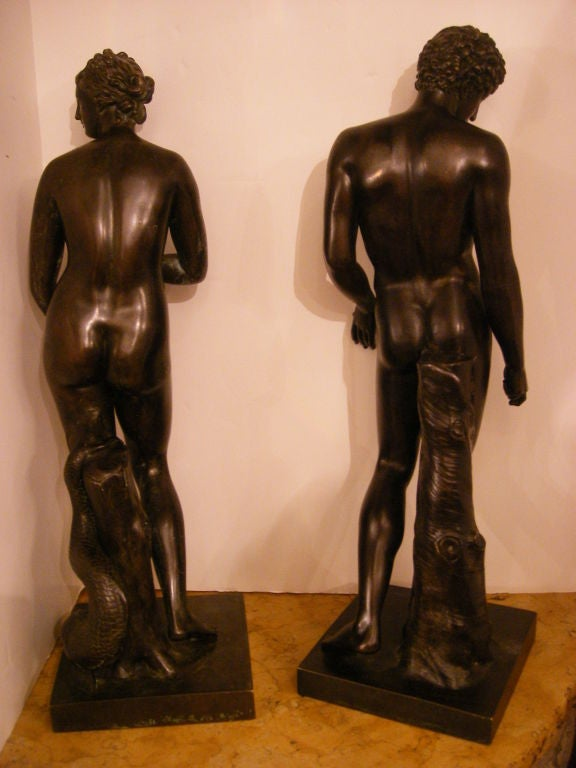 Pair Of 19th Century Bronze Statues At 1stdibs