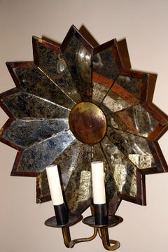 Star Shaped Mirror Sconces