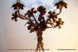 Gilt Metal Floral Sconces