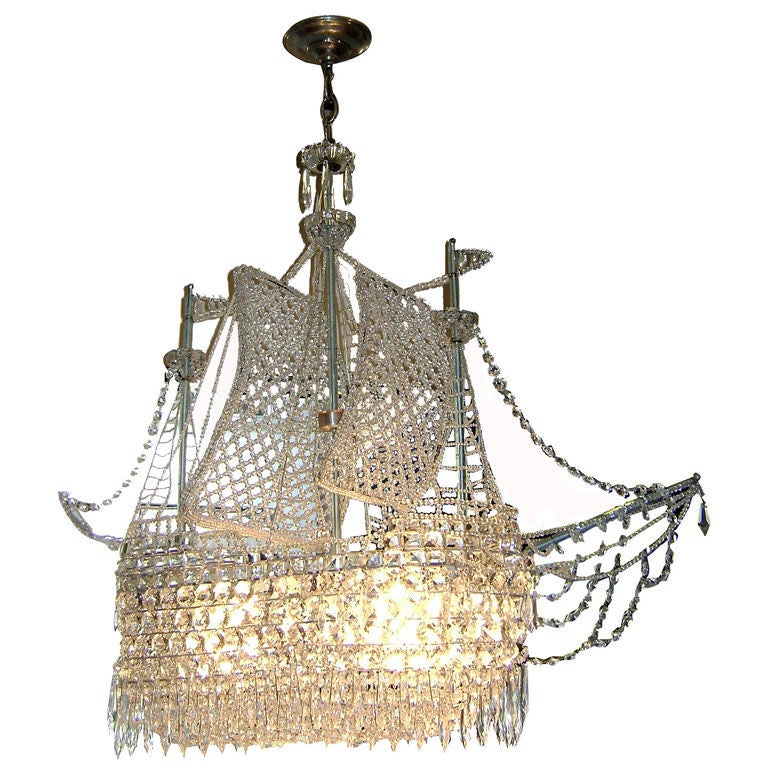 Crystal Ship Chandelier At 1stdibs