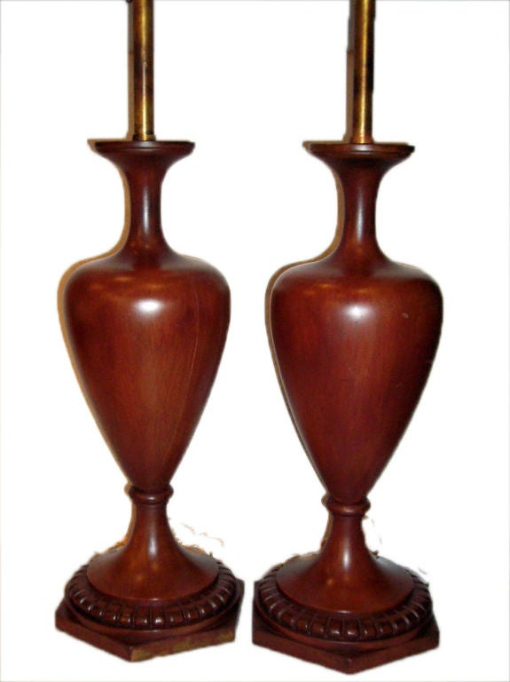 turned wood table lamps for sale at 1stdibs. Black Bedroom Furniture Sets. Home Design Ideas