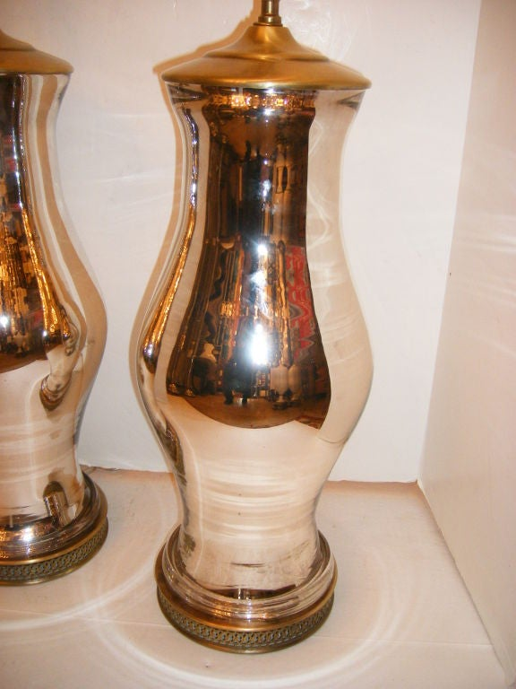 Large Mercury Glass Lamps At 1stdibs