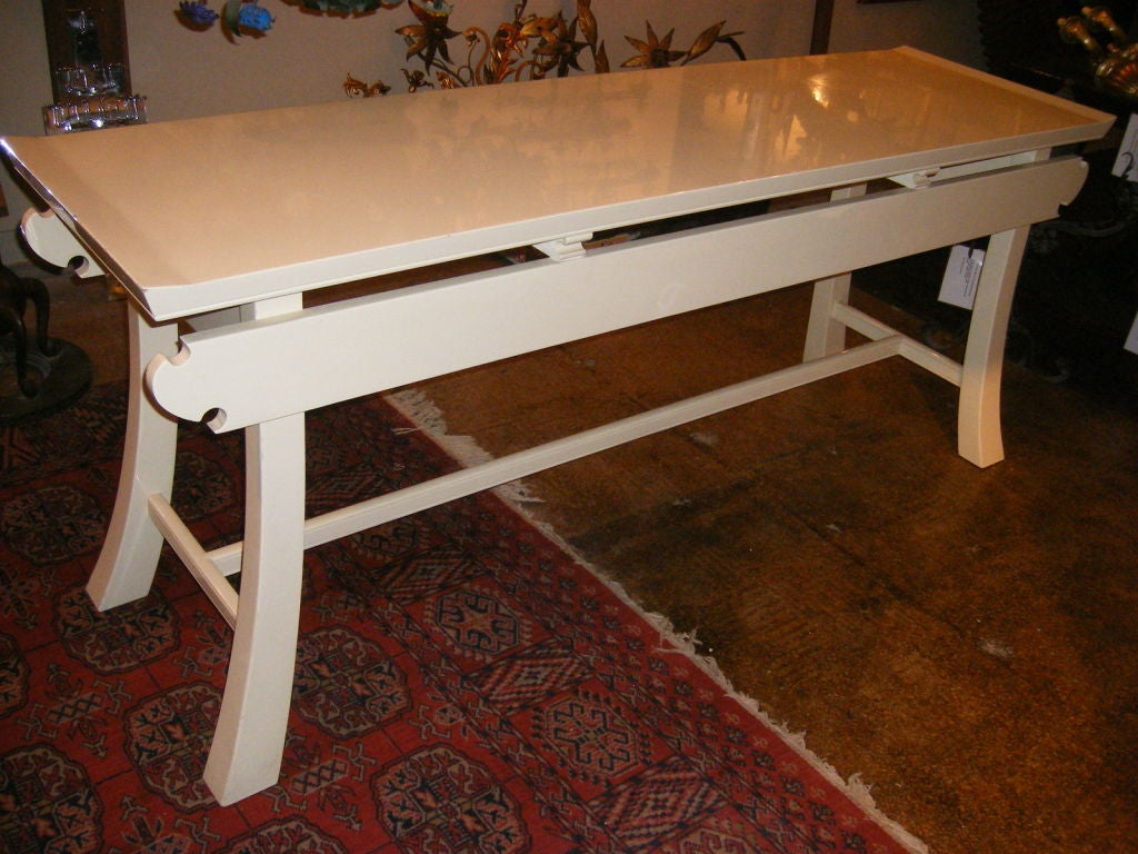 Large asian style console table at stdibs