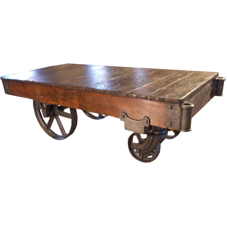 """Industrial Coffee Table On Wheels At 1stdibs: Industrial """"Nutting"""" Truck / Coffee Table At 1stdibs"""