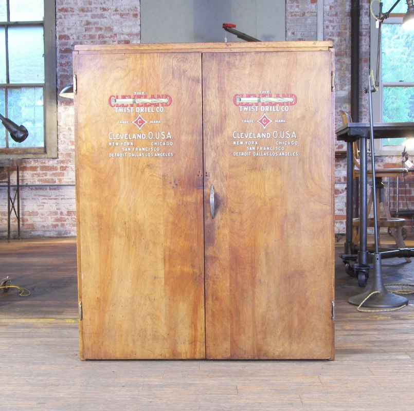 Vintage Industrial Multi-Drawer Wood Storage Cabinet image 2