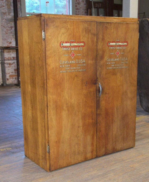 Vintage Industrial Multi-Drawer Wood Storage Cabinet image 3