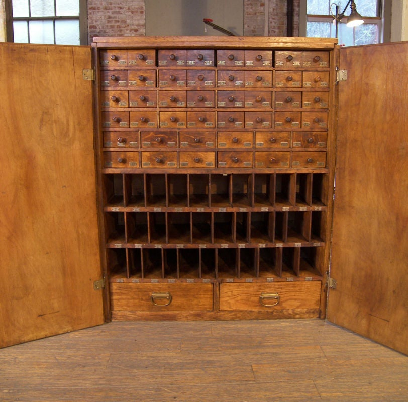 Vintage Industrial Multi-Drawer Wood Storage Cabinet image 6