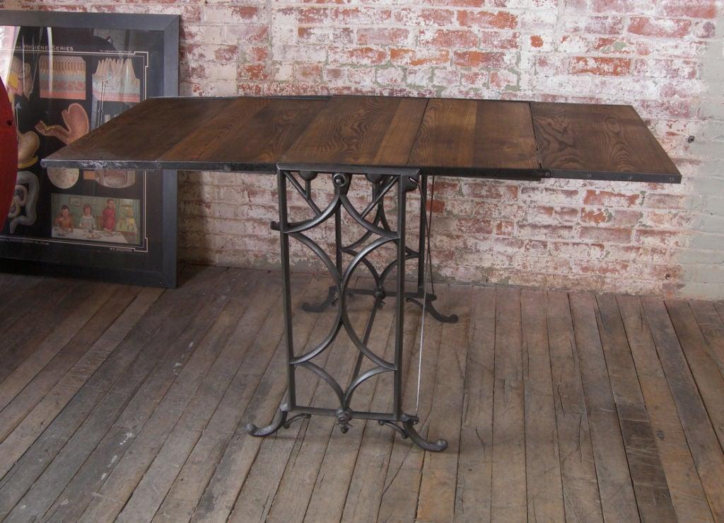 Vintage Adjustable Cast Iron And Wood Display Baker S