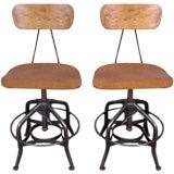 Pair of Vintage Adjustable Toledo Drafting Chairs
