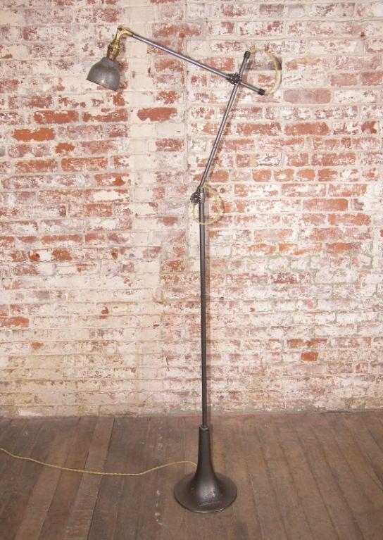 vintage industrial floor standing lamp light at 1stdibs. Black Bedroom Furniture Sets. Home Design Ideas