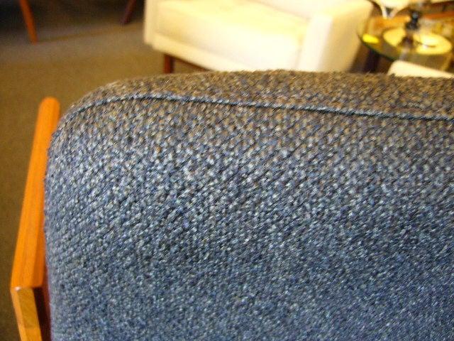 Pair of Danish Modern Teak Bar Stools Upholstered For Sale 3