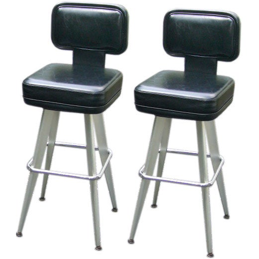 Sleek Modern Swivel Bar Stools At 1stdibs