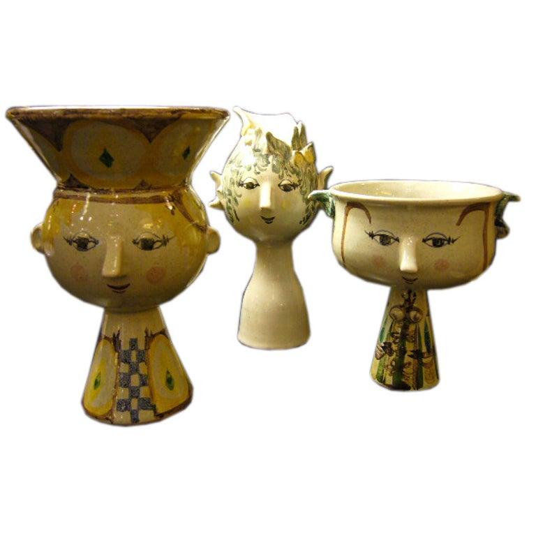 Whimsical Bjorn Wiinblad Head Vase