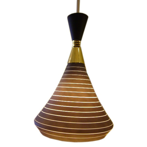 50 S Italian Cocoa Cased Glass Pendants At 1stdibs
