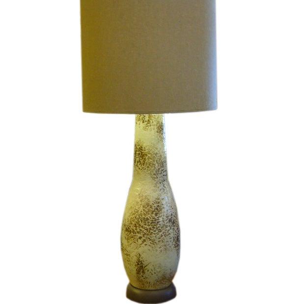 Monumental Modern Mottled Glaze Table Lamp