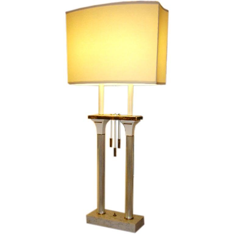 Monumental High Style Modernist Columnar Lamp At 1stdibs