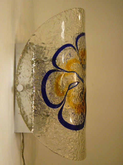 Wall Sconces Art Glass : Large Mazzega Art Glass Wall Sconce at 1stdibs