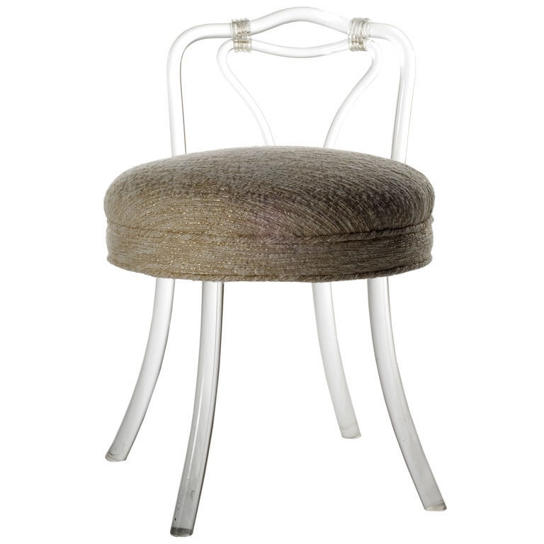 Vintage Lucite Vanity Chair At 1stdibs