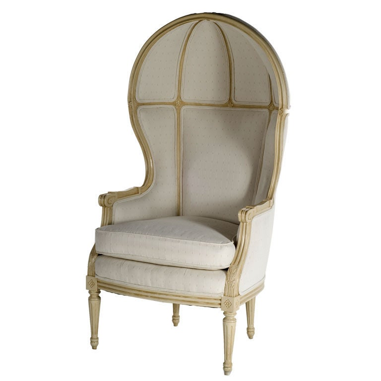 Louis XVI Painted Hooded Chair at 1stdibs