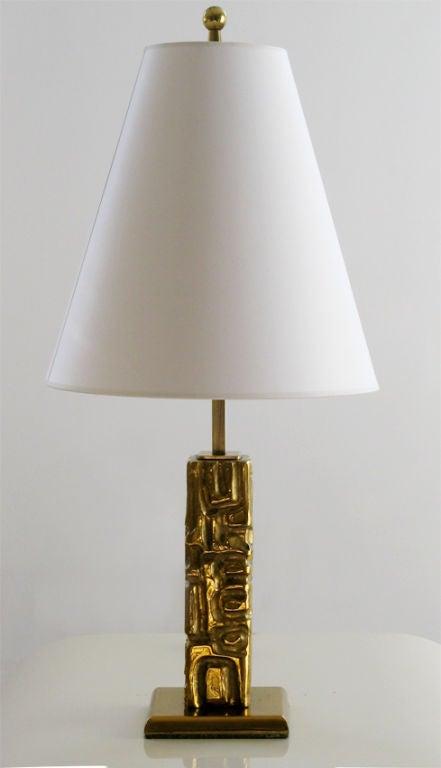 Rare Angelo Brotto Cast Brass Table Lamp Italy Esperia