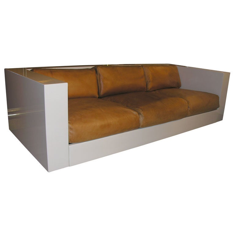 Cream Lacquered Sofa By Massimo Vignelli Sold At 1stdibs