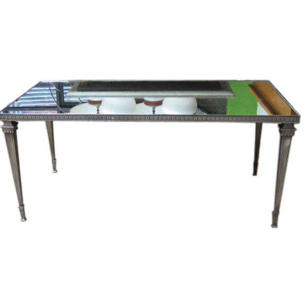 Nickel Coffee Table In The Style Of Jansen At 1stdibs