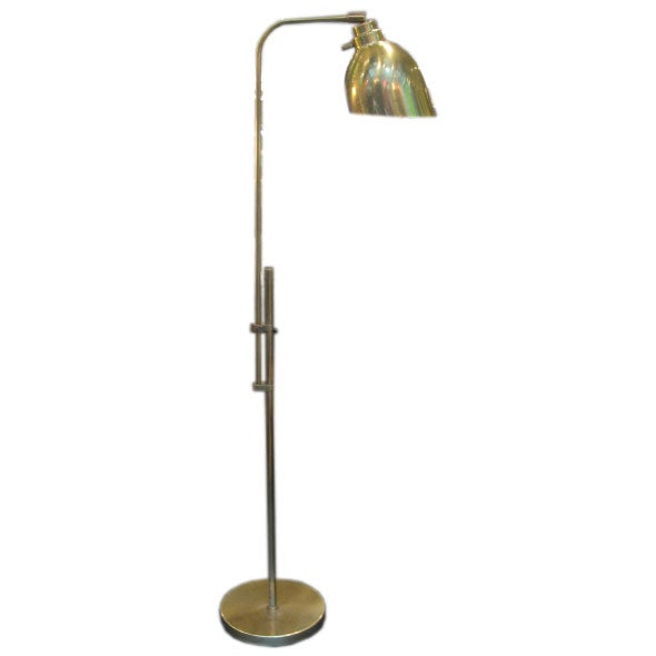 Vintage Brass Extendable Reading Lamp at 1stdibs