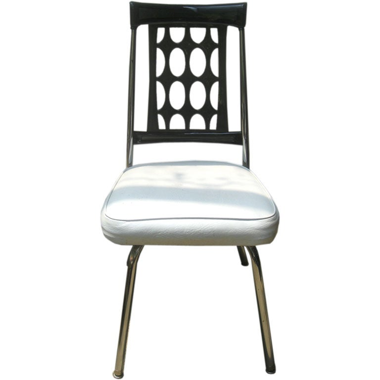 Smoked Lucite and Chrome Desk Chair s at 1stdibs