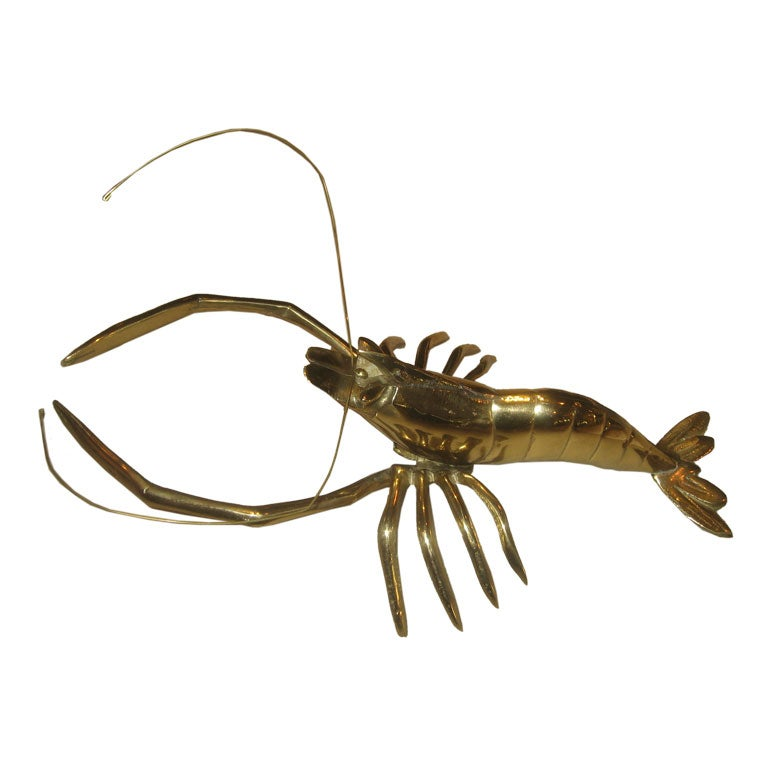 Mid Century Brass Lobster