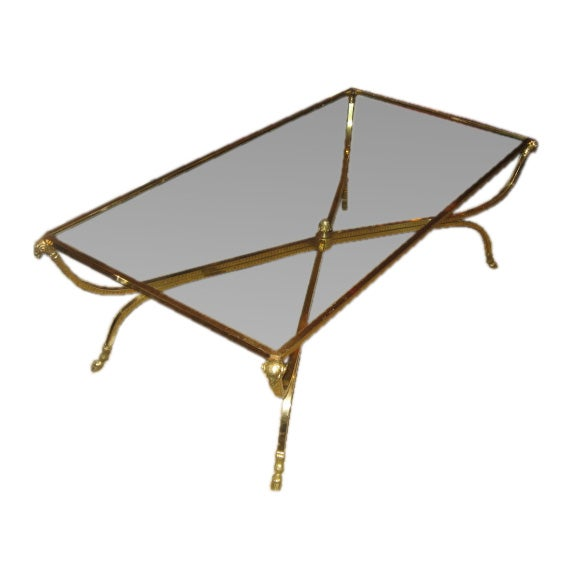 Rams Head Hooved Brass Coffee Table Style Of Jansen At