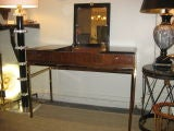 Black and Rosewood Wood Vanity / Desk, by Drexel thumbnail 4