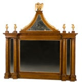 Italian Neoclassical Style Mahogany and Parcel Gilt Mirror