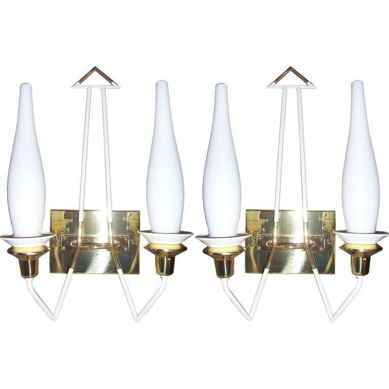 Pair of Stilnovo Arrow Wall Lights