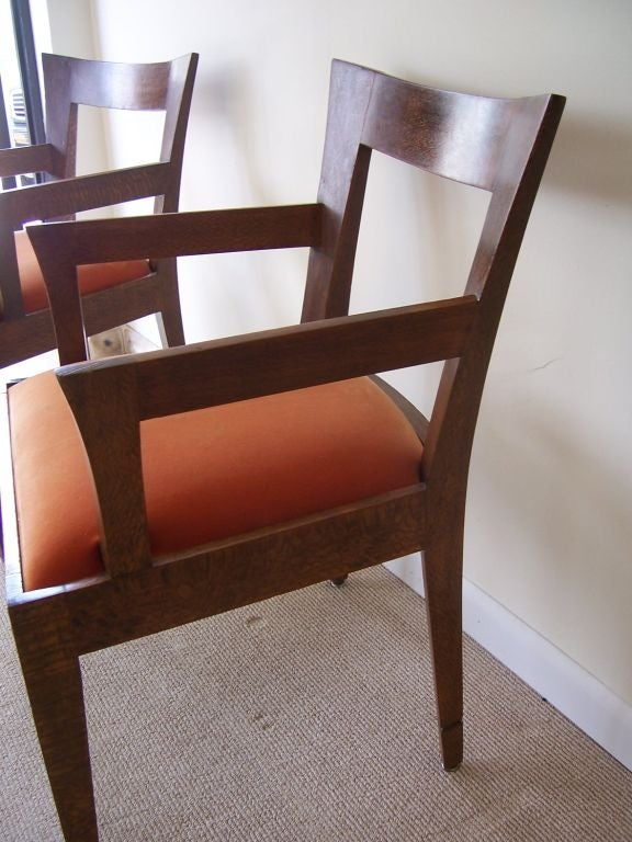 Mid-20th Century Pair of Vintage Italian Wood Armchairs '2 Pair Available' For Sale