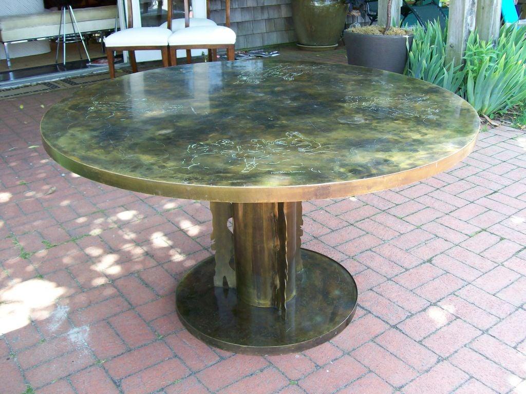 Foyer Center Table : Rare philip and kelvin laverne signed foyer center table