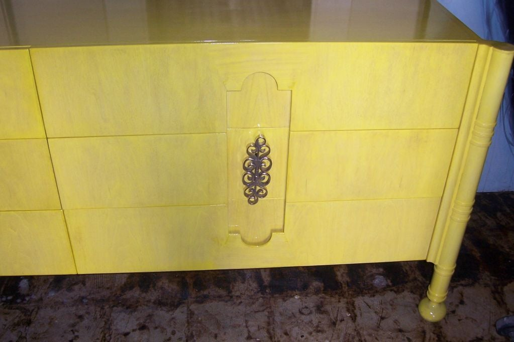 A Hi Glam Canary Yellow Swedish Dresser At 1stdibs