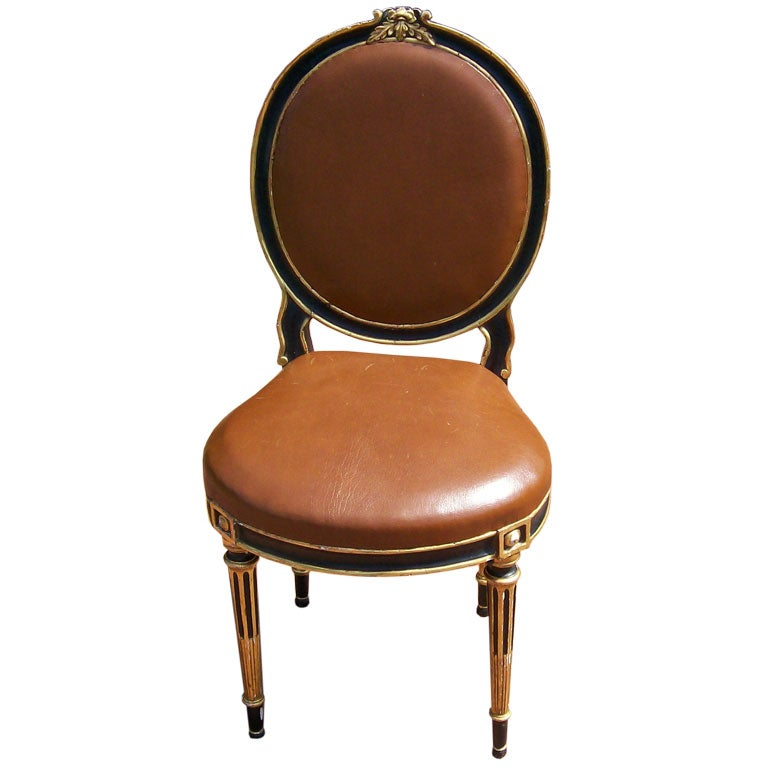 Ebonized Louis XVI Style Fauteuil Chair at 1stdibs