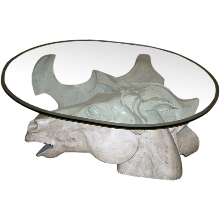 Impressive Oversized Horse Head Coffee Table By Romeo Tamanti 1
