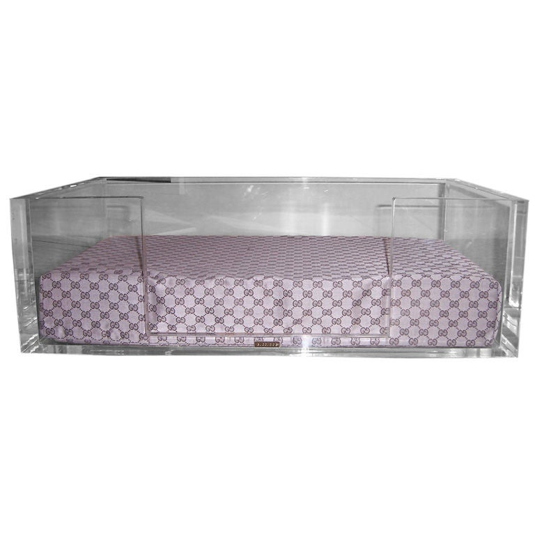 Gucci Lucite Dog Bed