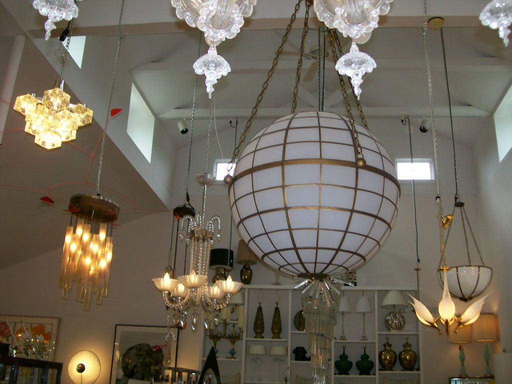 Oversized Sirmos Quot Magellan Quot Globe Light Fixture At 1stdibs